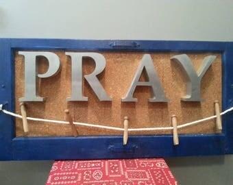 Pray Recycled Window Art