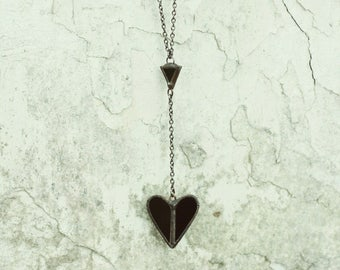 Spade necklace, witch jewelry, witch necklace, goth jewelry, gothic jewelry, wiccanjewelry, wiccajewelry, occult jewelry, pagan jewelry