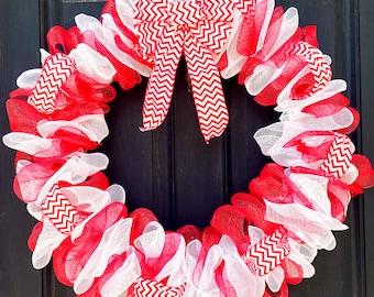 Mesh Wreath| Front Door Wreath| Dr Seuss Wreath| Chevron Wreath| Outdoor Wreath| Indoor Wreath