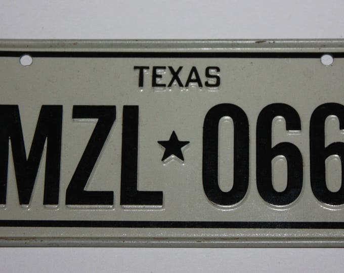 1978 Texas Wheaties Post Cereal Premium Bike Mini Metal License Plate