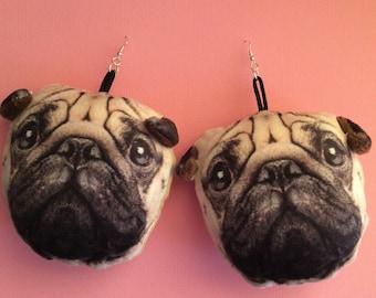 Pug Earrings