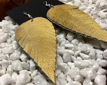 Handmade Genuine Leather Earrings