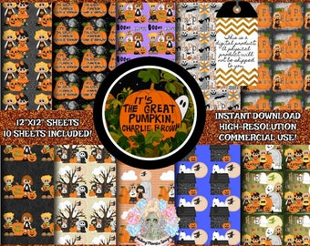 Great Pumpkin Charlie Brown, Peanuts Gang, Peanuts Snoopy, Snoopy Digital Paper, Halloween Digital Paper, Peanuts Clipart, Peanuts Character