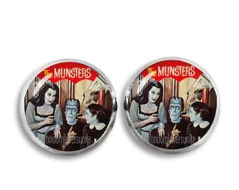 Munsters Stud Earrings Munsters Earrings Fandom Jewelry Cosplay Fangirl Fanboy