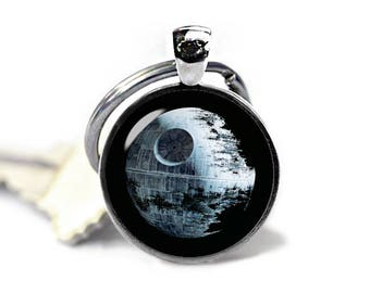 Death Star Keychain Deathstar Keyring Star Wars Keyfob Star Wars Keyring Fangirl Fanboy
