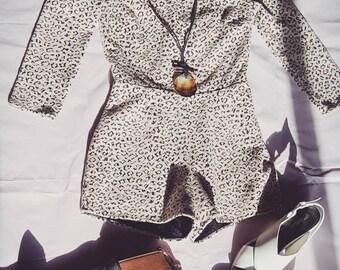 Cheetah cutout romper