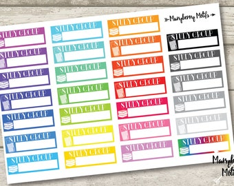 Study Group Stickers for Planners