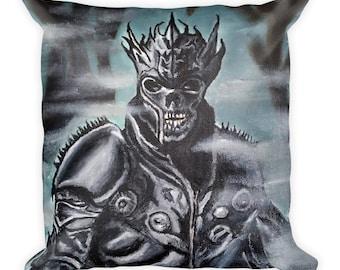 Skeleton Warrior Square Pillow