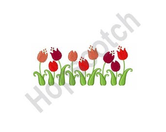 Tulips - Machine Embroidery Design, Flowers