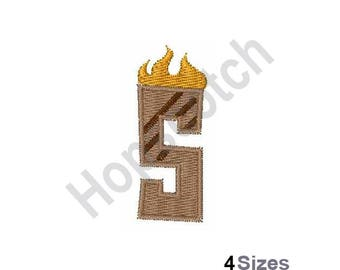 Letter S - Machine Embroidery Design, Grill Master Font