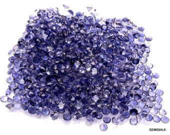 10 pcs 4mm Iolite Faceted Round Loose Gemstone, Nice AAA Quality 100% Natural Faceted Iolite Round Gemstone Loose Iolite Gems Wholesale Lots