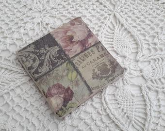 Tile coaster - gift idea/decoupage/Shabby chic