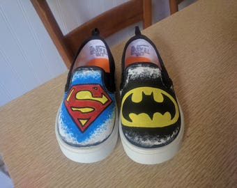 SUPERHERO SHOES Batman Superman DC
