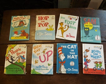 Dr Seuss Beginner Books – Lot 8 – Hop on Pop, The Foot Book, Sam and the Firefly, Bears on Wheels, In a People House, Great Day for Up
