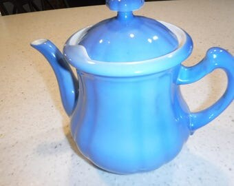 Blue Huntley Teapot