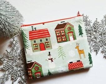 Santa Clause's Christmas Village Makeup Bags