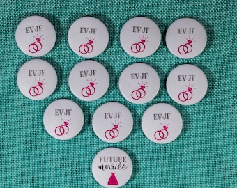 11 + 1 bride bachelorette party badges