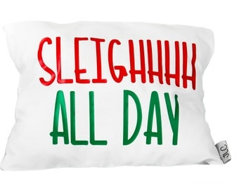 Sleigh all day cushion cover and pillow insert