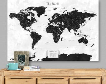 Custom world map Etsy