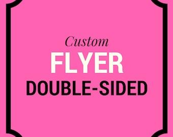 Custom Flyer - Marketing Flyer - Promo Flyer - Custom Branding -  Hair Salon Flyer - Real Estate Flyer - Hair Salon Flyer