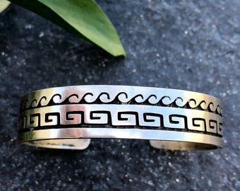 Hopi Sterling Silver Cuff | Native American Jewelry | Hopi Bracelet | Vintage Native American Jewelry | Old Pawn | Dead Pawn