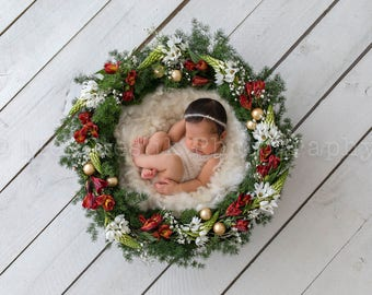 Christmas Design ~ Newborn Digital Background Backdrop Download