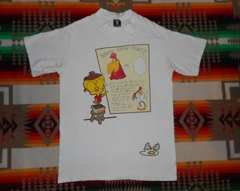 Foghorn Leghorn Which Came First The Chicken Or The Egg? T Shirt Size M Looney Tunes