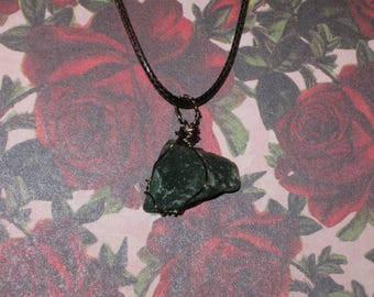 Green quartz necklace