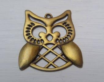 Bronze OWL pendant 31 mm