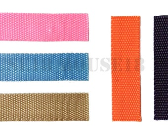 """1 Inch 1"""" Nylon Webbing 30 Yards Bag Making Supplies Wholesale 5 Colors to choose from"""