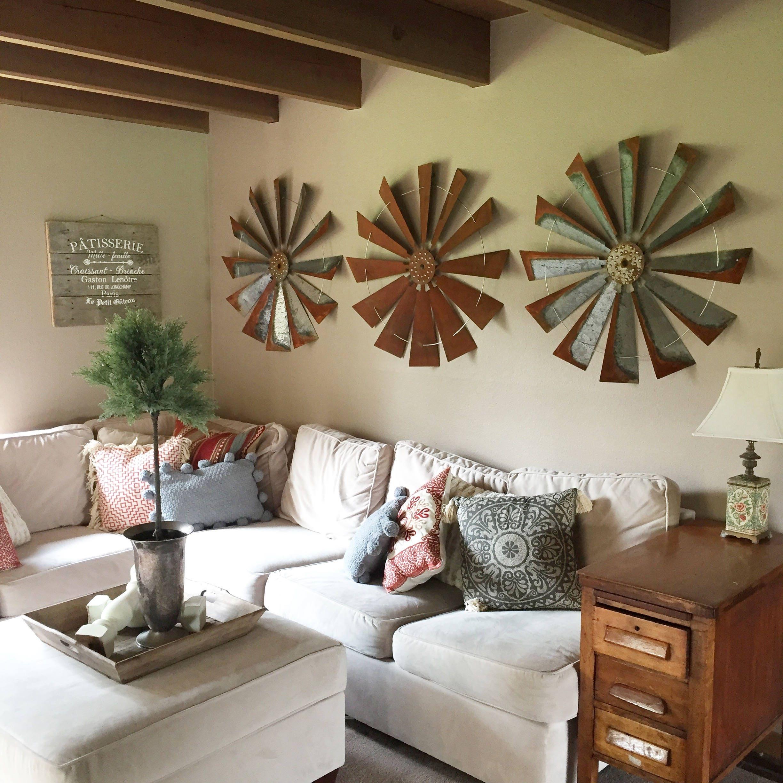 Rustic Accessories Home Decor: Windmill Home Decor: Fixer-Upper Farmhouse Rustic Style