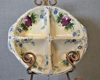 Divided Dish Vintage Bahl Sandela Ware Nova Rose