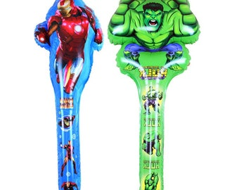 1pcs 76*22cm The Avengers iron man Super Hero Hulk Balloons for Boy's Birthday Party Supplies Kids Classic Toy festa infantil