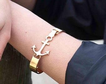 """18 k gold-plated bracelet """"anchor"""""""