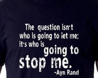 Ayn Rand Shirt Ayn Rand the question white T-shirt