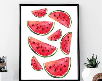 Watermelon Print // Minimalist // Art // Typography // Fashion // Scandinavian Poster // Boho // Modern Office