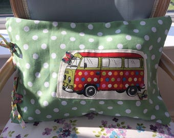 Campervan Cushion, funky gifts, retro gifts, gifts for campervans