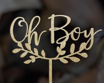 Oh Boy Cake Topper,Baby Boy Cake Topper,Baby Boy shower cake topper, Oh Baby Cake Topper, Navy Blue Cake Cake topper