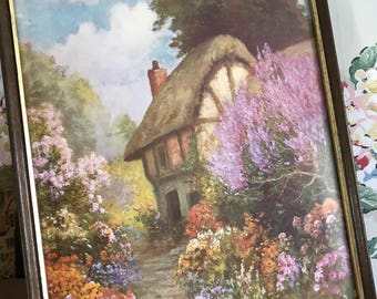 Pretty vintage framed print
