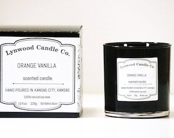 Orange Vanilla // Double-Wick  // Candle Gift // Natural Candle // Scented Candle // Summer Candle // Beach Candle