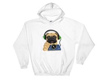 DJ Pug Hooded Sweatshirt
