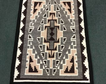 Authentic Two Grey Hills Navajo Rug