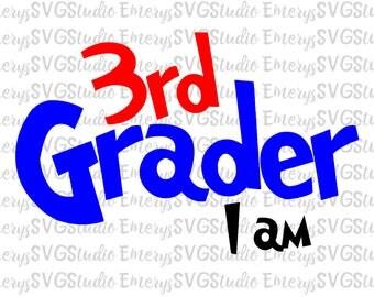 SVG  File for 3rd Grader I am