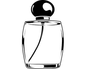 Perfume Bottle #1 Female Woman Spray Scent Cologne Smell .SVG .EPS .PNG Instant Digital Clipart Vector Cricut Cut Cutting Download Printable