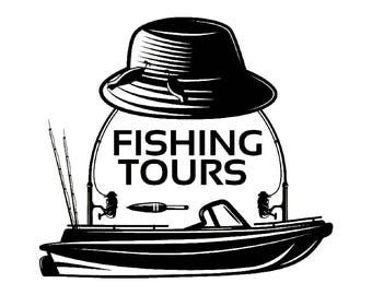 Fishing Logo #1 Fisherman Angling Fish Hook Fresh Water Hunting Tournament Competition Contest .SVG .EPS .PNG Vector Cricut Cut Cutting File