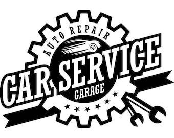 Car mechanic svg etsy for Logo garage mecanique