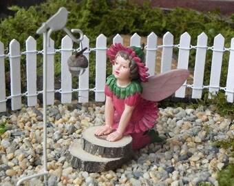 Miniature Dollhouse FAIRY GARDEN ~ Retired Double Daisy ~ NEW
