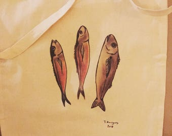 Tote bag small fish