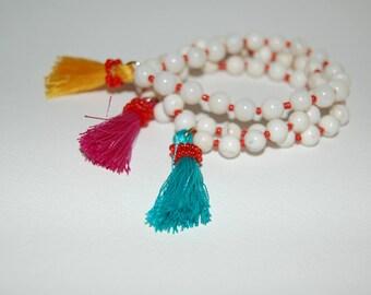 The Zoey-- Beaded Tassel Bracelet