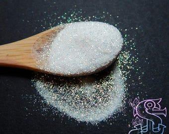 Solvent resistant glitter powder 02mm iridescent Orange for nail polish making
